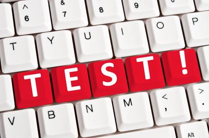 Test word on keyboard